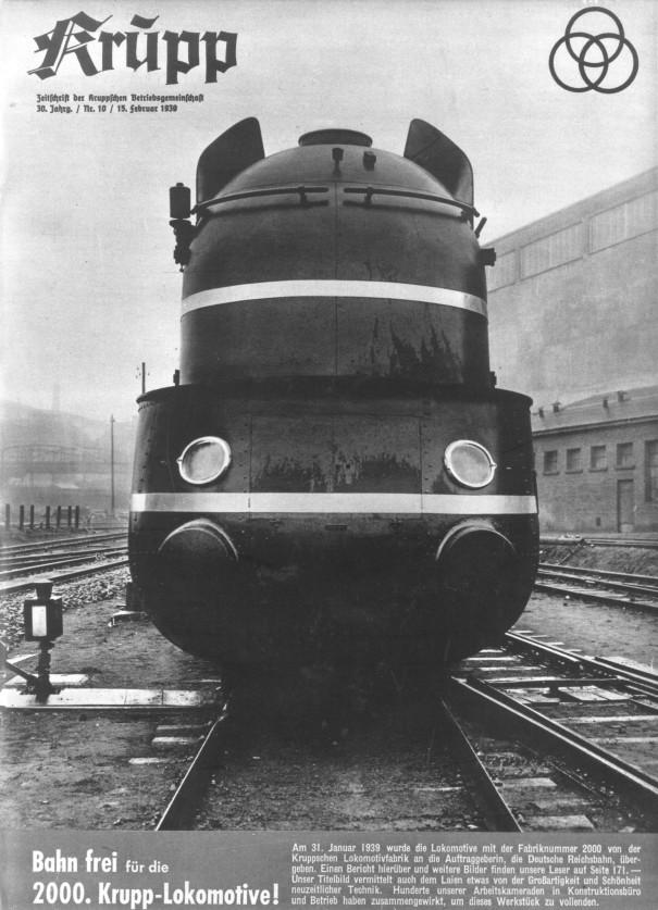D2-Schnellzug Lokomotive mit Stromlinienverkleidung der Baureihe 06.