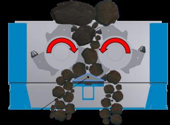 Primary crusher: CenterSizer with breaker bar