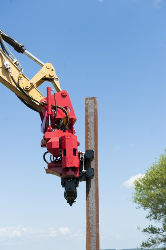 Excavator mounted vibrators