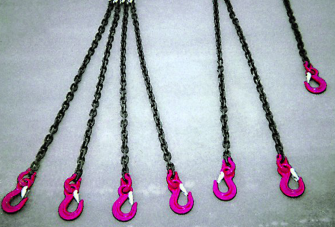 Chain sling connections
