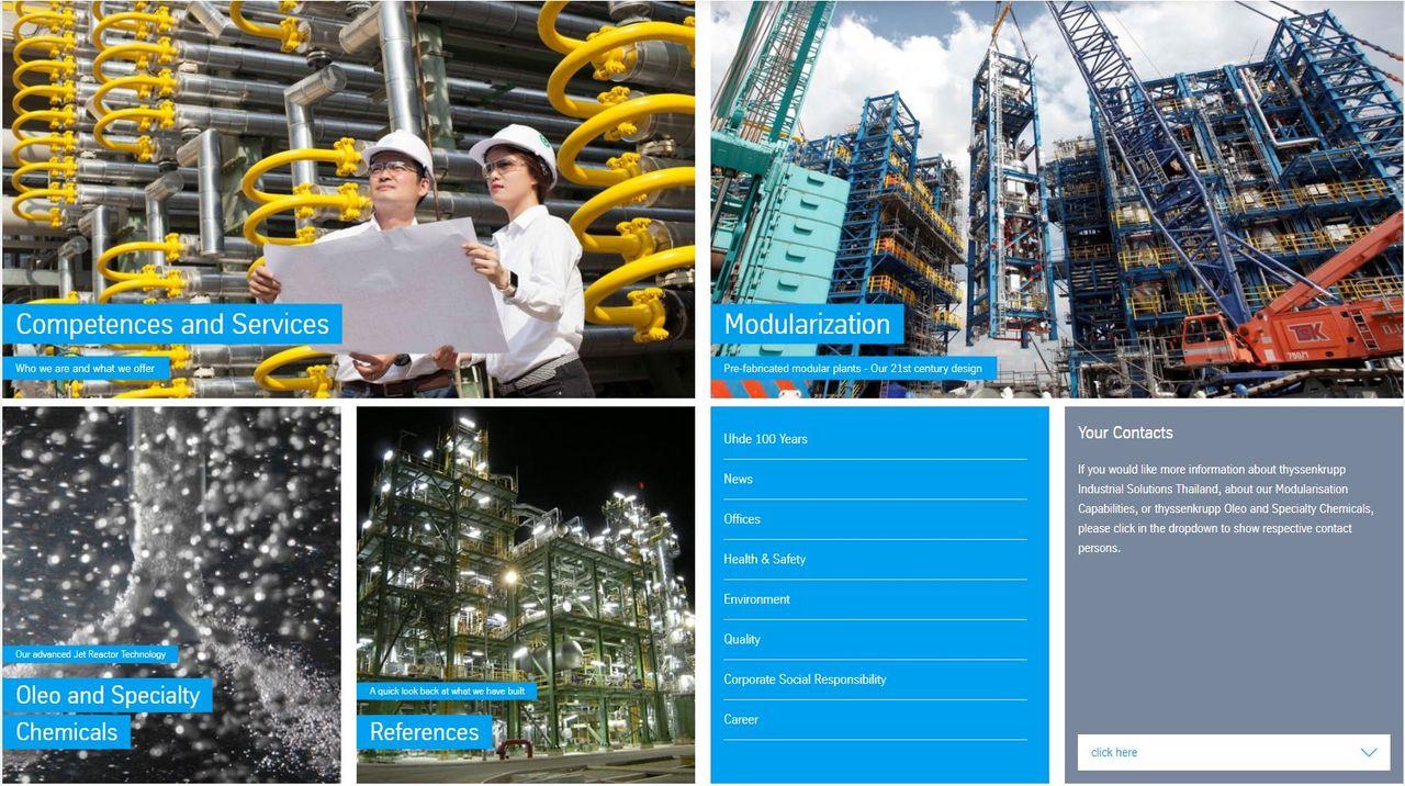 new Website of thyssenkrupp Industrial Solutions (Thailand) Ltd.