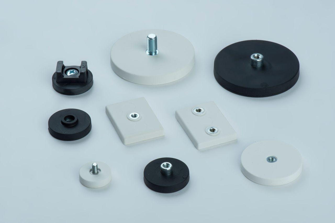 Rubber coated flat holding magnets, thyssenkrupp Magnettechnik