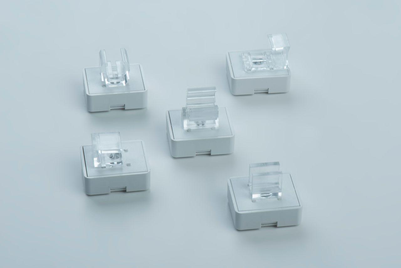 Sandwich magnets with adapter holder for fixing poster frames, thyssenkrupp Magnettechnik