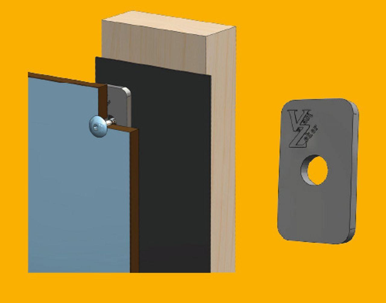 Afbeelding TRESPA® ventilatie met afstandhouder