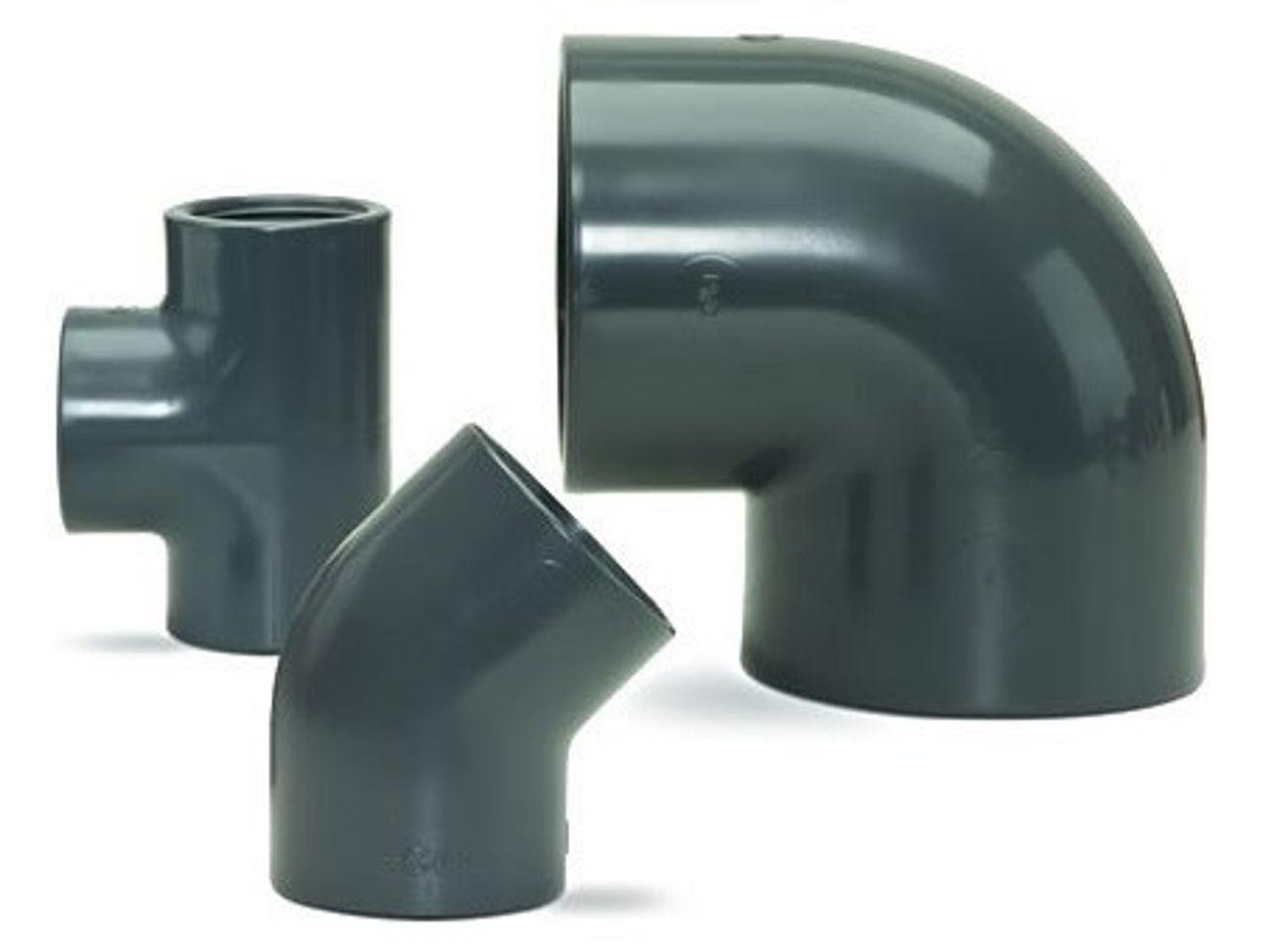 PVC-U kunststof industriële fittingen