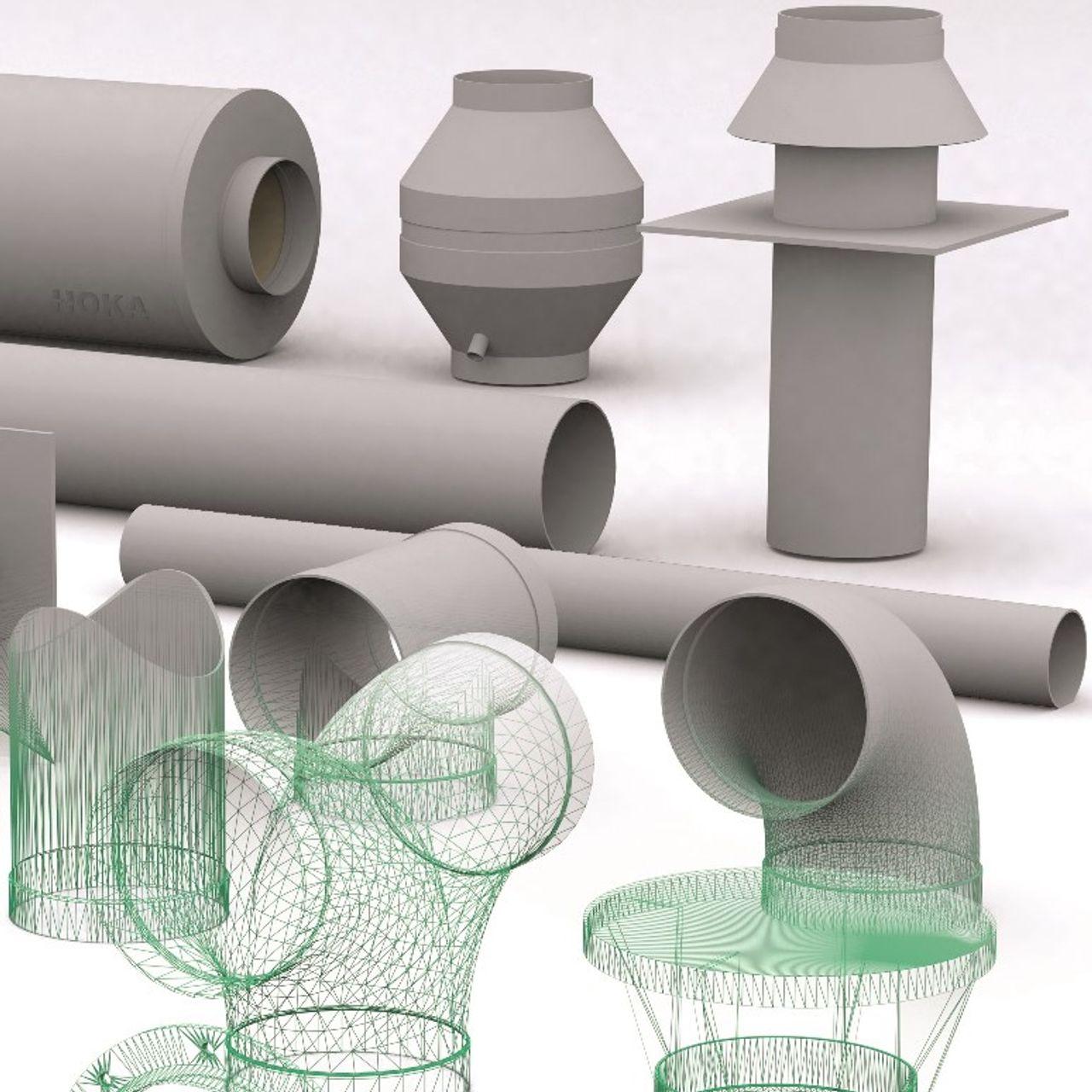 Kunststof ventilatie leidingsystemen